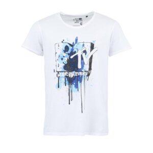 Bílé triko s potiskem MTV !Solid Joel 029bee3527