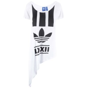 Bílé dámské asymetricky střižené triko adidas Originals Edgy 8dff5c547f3