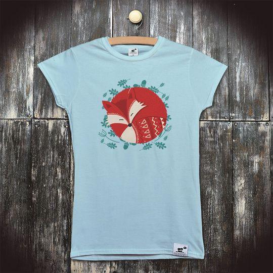 9e973fbf805b Dětské bio tričko s potiskem Liška  Spící liška