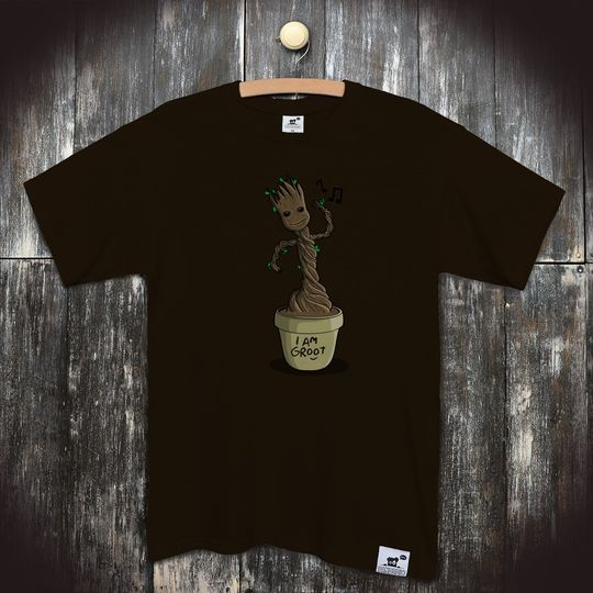 959da3696d1 Pánské seriálové tričko Groot  I am Groot