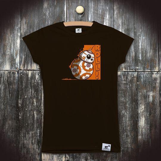 Pánské seriálové tričko Star Wars  ROLL BB8  9120ee7594