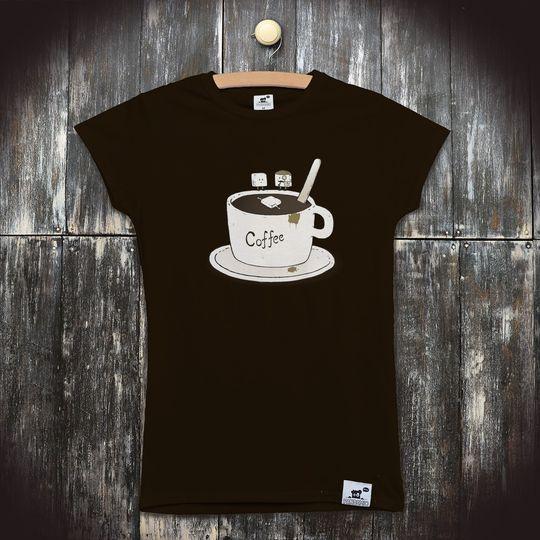 8b71525d7804 Pánské vtipné tričko s potiskem Kafe  Kdo zabil cukřík