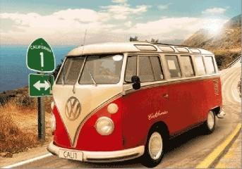 Posters VW Volkswagen Californian Camper 3D plakát