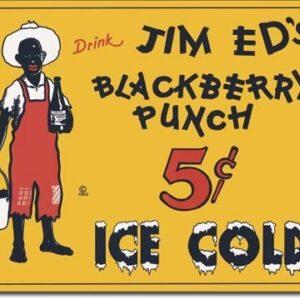 Posters Plechová cedule JIM ED'S BLACKBERRY PUNCH