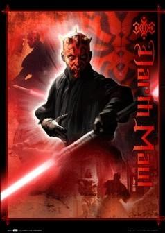 Posters STAR WARS - darth maul 3D plakát