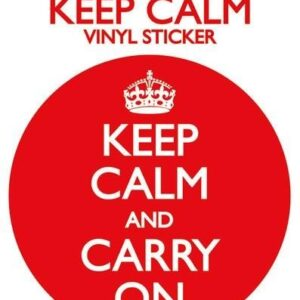 Posters Samolepka KEEP CALM AND CARRY ON - Posters