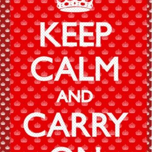 Posters Keep calm and carry on 3D plakát