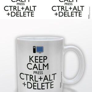 Posters Hrnek Keep Calm Press Ctrl Alt Delete - Posters