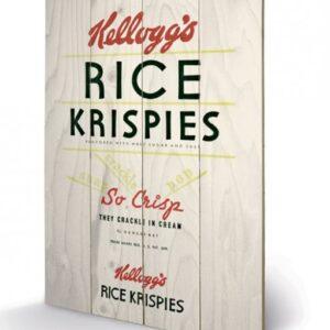 Posters Obraz na dřevě - VINTAGE KELLOGGS - rise krispies