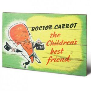 Posters Obraz na dřevě - IWM - doctor carrot
