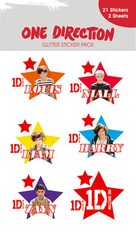 Posters Samolepka ONE DIRECTION - stars with glitter - Posters