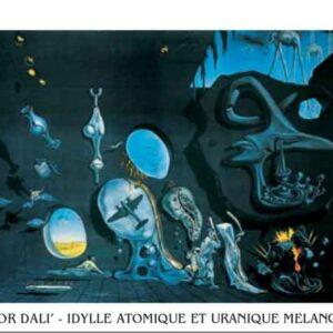 Posters Reprodukce Salvador Dalí - Melancholie - atomovo-uranová idyla