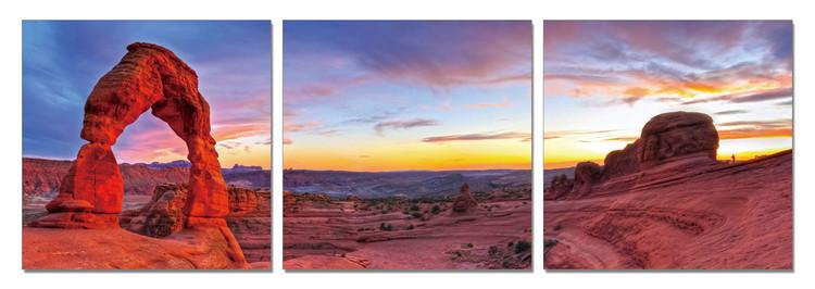 Posters Obraz Skalní brána při západu slunce