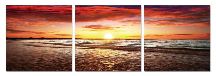 Posters Obraz Západ slunce u moře