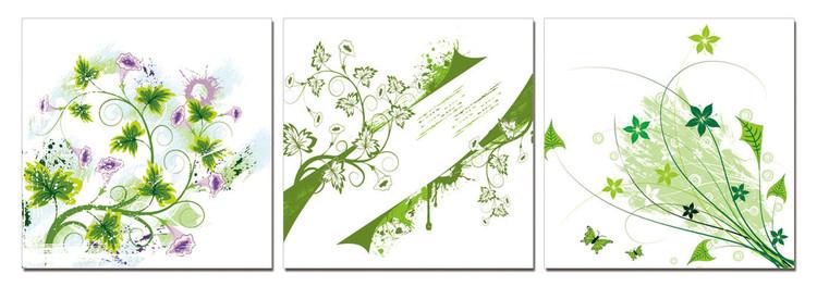 Posters Obraz Moderní design - zelené rostliny