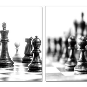 Posters Obraz Šachy - černobílý svět