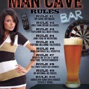 Posters Plechová cedule MAN CAVE - Rules