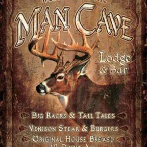 Posters Plechová cedule JQ - Man Cave Lodge