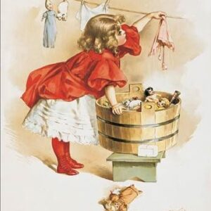 Posters Plechová cedule IVORY SOAP GIRL WASHING