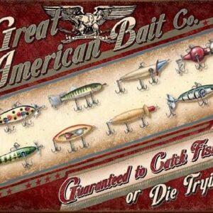 Posters Plechová cedule GREAT AMERICAN BAIT CO.