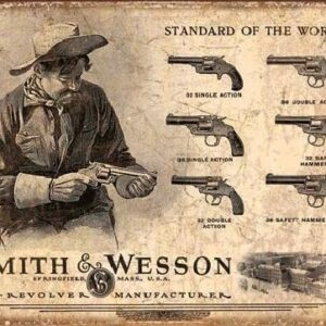 Posters Plechová cedule S&W - SMITH & WESSON - Revolver Manufacturer