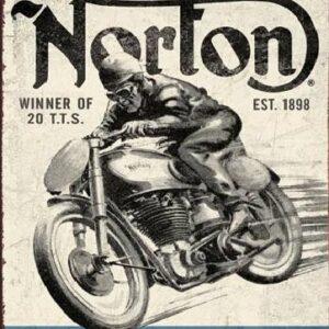 Posters Plechová cedule NORTON - winner