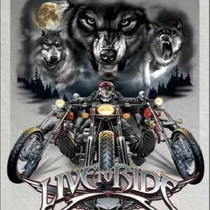 Posters Plechová cedule LIVE TO RIDE - wolves