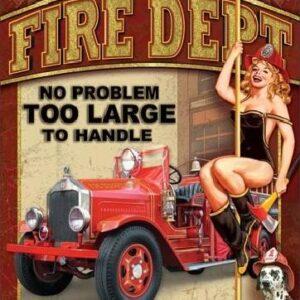 Posters Plechová cedule FIRE DEPT - no problem