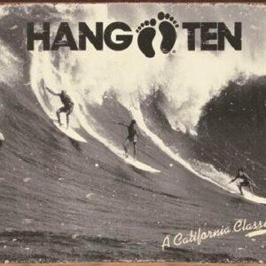 Posters Plechová cedule HANG TEN - california classic