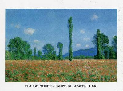 Posters Reprodukce Claude Monet - Pole s vlčími máky v Giverny