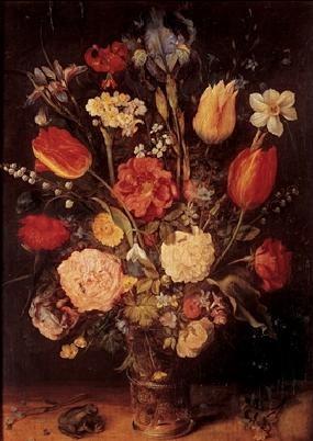 Posters Reprodukce Jan Brueghel - Jan Brueghel mladší - Váza s květinami