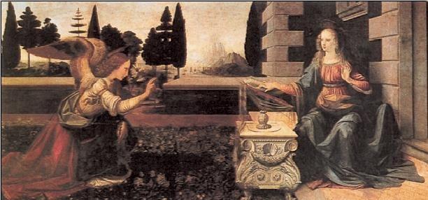 Posters Reprodukce Leonardo Da Vinci - Zvěstování Panny Marie