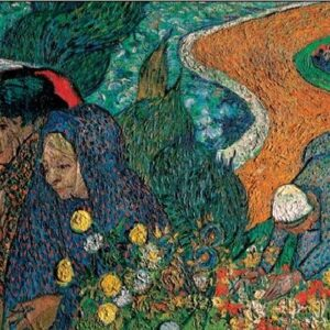 Posters Reprodukce Vincent van Gogh - Dámy z Arles - Vzpomínky na zahradu v Ettenu