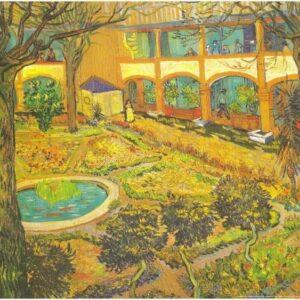 Posters Reprodukce Vincent van Gogh - Zahrada nemocnice v Arles
