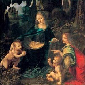 Posters Reprodukce Leonardo Da Vinci - Madona ve skalách