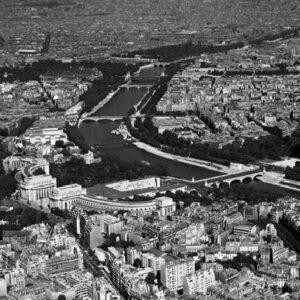 Posters Reprodukce CHARLES ROTKIN - Paříž - Letecký pohled na vybranou část