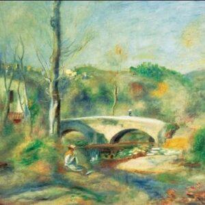 Posters Reprodukce Pierre-Auguste Renoir - Krajina s mostem