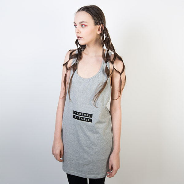 Tričko Logo tee Marshal Apparel 1932 Box Girl Tank Grey - Marshal Apparel