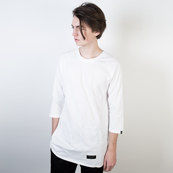 Tričko Triko Marshal Apparel Plain Mid Sleeve Raglan White - Marshal Apparel