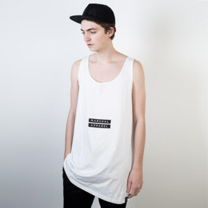Tričko Logo tee Marshal Apparel Twin Box Tanktop White - Marshal Apparel