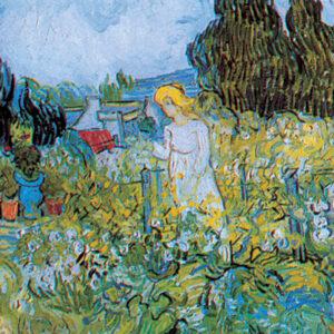 Posters Reprodukce Vincent van Gogh - Marguerite Gachet v zahradě