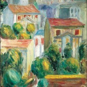 Posters Reprodukce Pierre-Auguste Renoir - Dům v Cagnes
