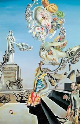 Posters Reprodukce Salvador Dalí - Truchlivá hra