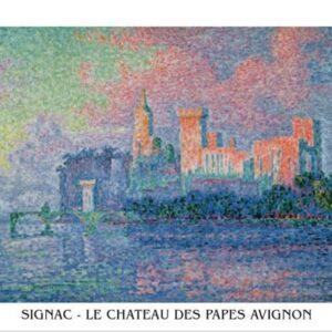 Posters Reprodukce Paul Signac - Papežský palác v Avignonu