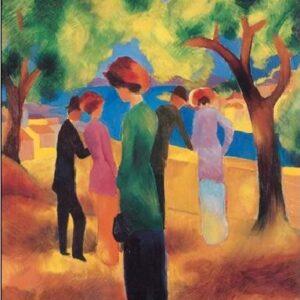 Posters Reprodukce Macke August - Žena v zeleném kabátku