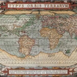 Posters Reprodukce Mappe - Mapa světa - historická