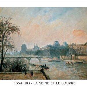 Posters Reprodukce Camille Pissarro - La Seine et le Louvre - Seina a Louvre