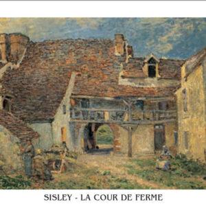 Posters Reprodukce Sisley - Dvůr statku v St. Mammes