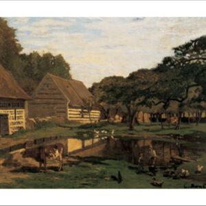 Posters Reprodukce Claude Monet - Statek v Normandii