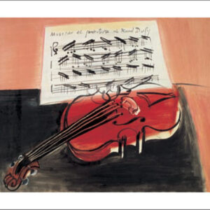 Posters Reprodukce Raoul Dufy - Červené housle – The Red Violin – 1966